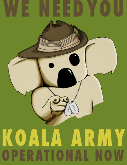koala, gum trees, Save the Koala
