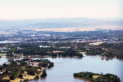lake burley griffin, black mountain tower