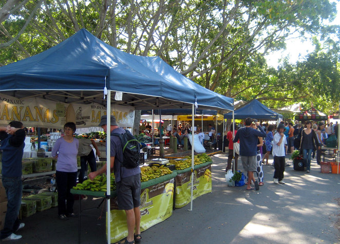 The Northey Street City Farm Markets is in a beautiful spots surrounded by farms