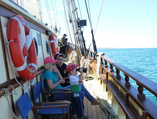 one and all, tall ships, day sails, Port Adelaide