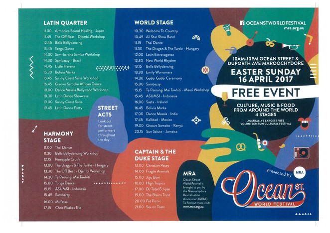 Outdoor, Fun, Festival, Family, Food, Free, Music, Bands, Maroochydore, Sunshine Coast