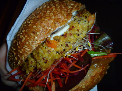 Veggie Velo Adelaide - Love your Veg Quinoa and Amaranth veg burger