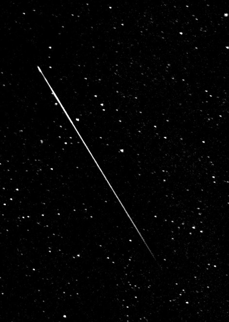 Photo of a Perseids' meteor courtesy of Nick Ares @ Wikimedia Commons