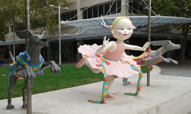 Public art for kids - The Other Side of Midnight (Anne Ross), located at City Walk, canberra, ACT, public art,
