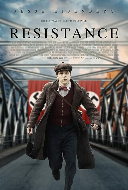 resistance film review 2020, cinema, performing arts, movie buffs, movie night, entertainment, family fun, date night, night oiut, jesse eisenberg, Clémence Poésy, Matthias Schweighöfer, jonathan jakubowicz, ed harris, jewish, french resistance, world war two, occupied france, marcel marceau, biograpjy