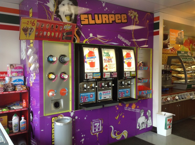 Slurpee stand will be busier on bottomless cup day