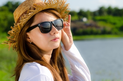 Sunglasses, Hat, Sunny, Weather, Outside, Girl