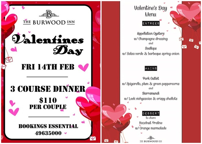 the burwood, merewether, newcastle, NSW, valentines day, dinner, NSW, restaurant, pub, dinner, 2020, whats on,