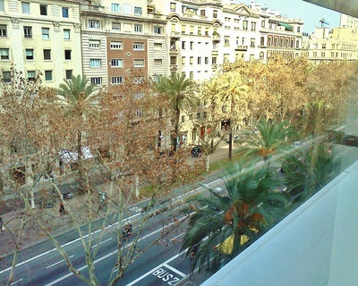 The view of Avinguda Diagonal from El cortes Ingles department store