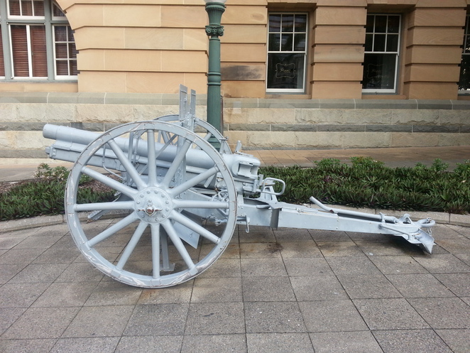 WWI cannon, Queens Park, Brisbane, Brisbane Greeters ANZAC tour 2016
