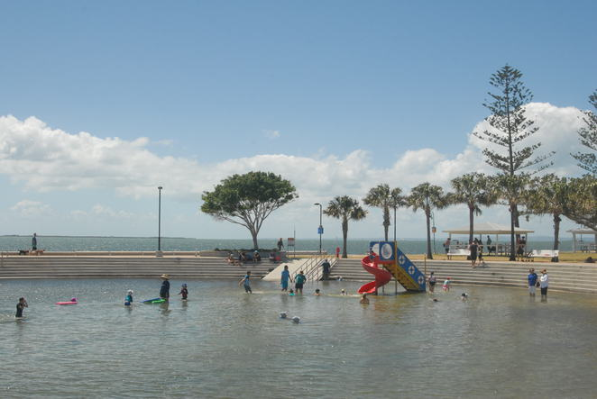 Wynnum;beach; outdoors; kids; playground; Moreton Bay