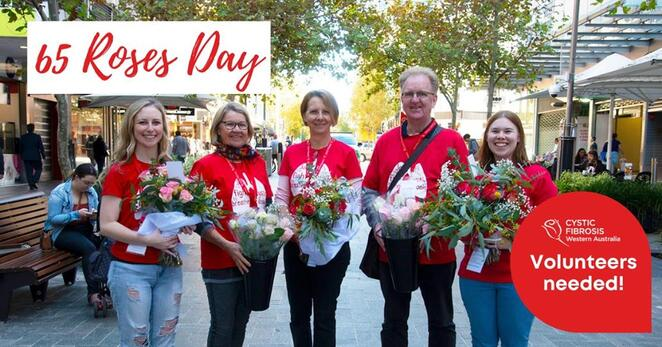 65 roses day fundraiser, cystic fibrosis wa, cfwa, community event, fun things to do, charity, making a difference, digital rose garden, fundraiser for cf research, local hero, support good health