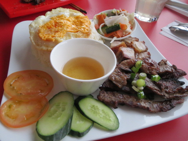 Aumbo Khmer, Combination Grilled Pork with Rice, Adelaide