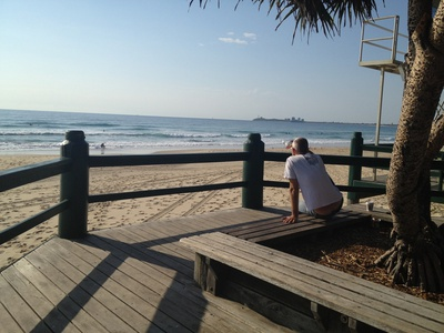 Beautiful Maroochydore Beach is just across the road