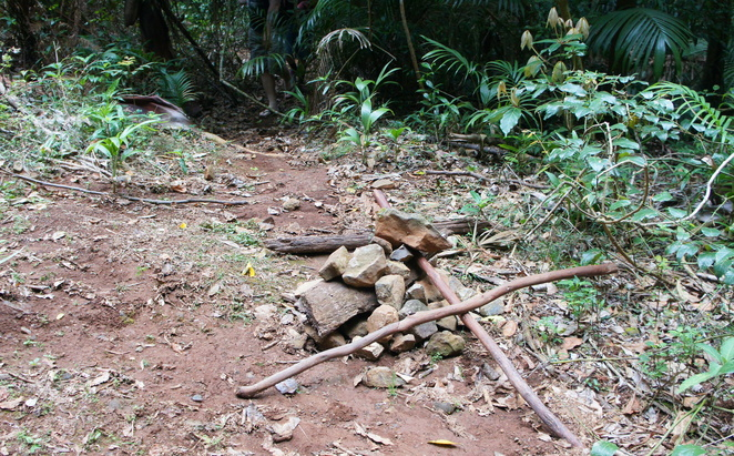 Follow piles of stones and other unofficial markers to discover secret trails
