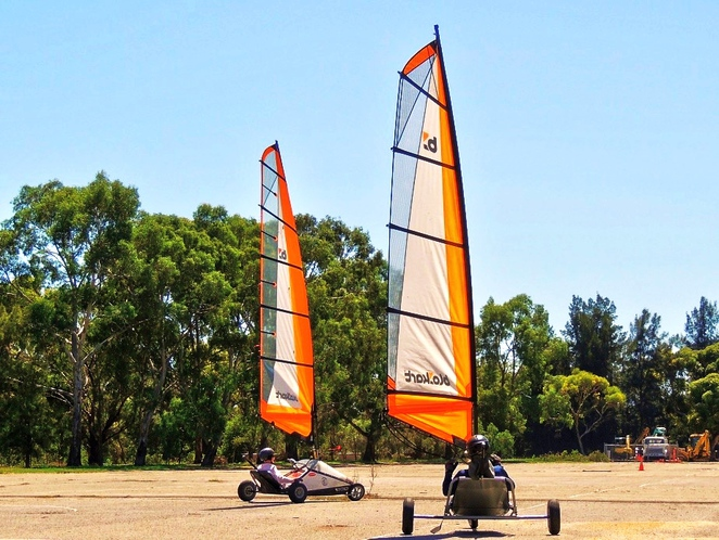 blokarting in australia, blokarting in adelaide, blokarting, adelaide city council, south parklands, land sailing, in adelaide, come and try, blokart racing