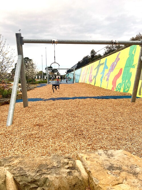 booran reserve, kids playground, fun for kids, swings, slides, adventure park, trampoline, playground equipment, flying fox, art wall, basketball wall, soccer wall, toilet facilities, seating, picnic, bbq, family fun