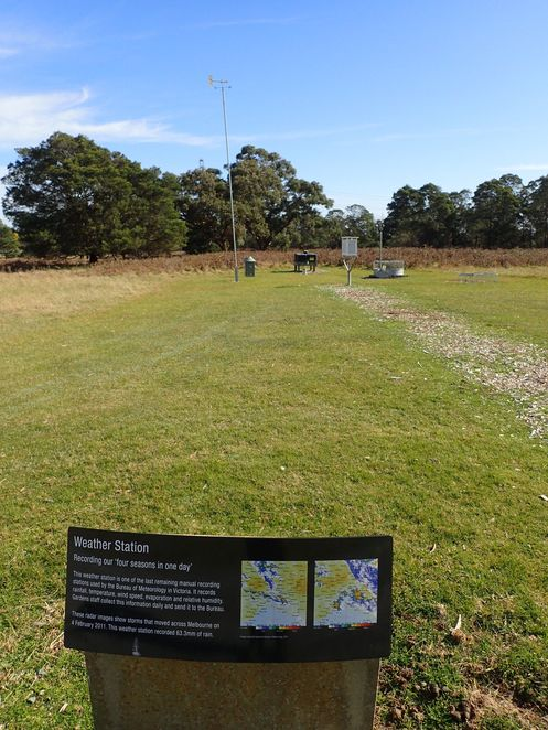 bushwalking, Cranbourne Botanic Gardens, wildflowers, wildlife, walking track, weather station