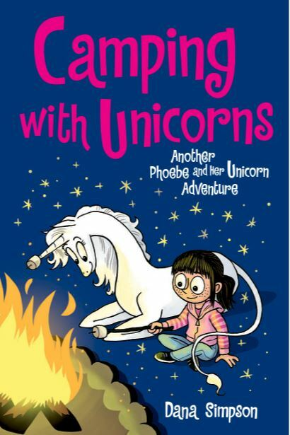 Camping with unicorns, Dana Simpson, books about unicorns, comics with unicorns
