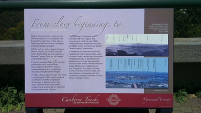 Canberra History Sign Display Mount Ainlsie Lookout 1