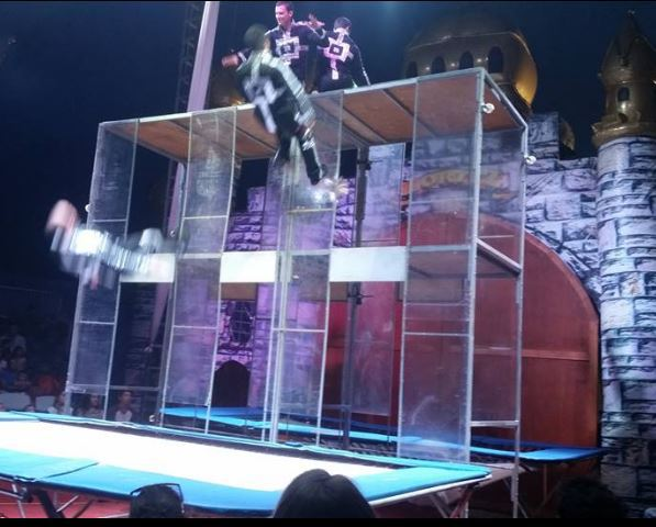circus, The Great Loritz Circus, trampoline