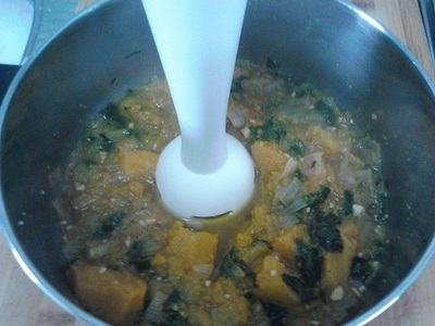 Pumpkin and Spinach Soup