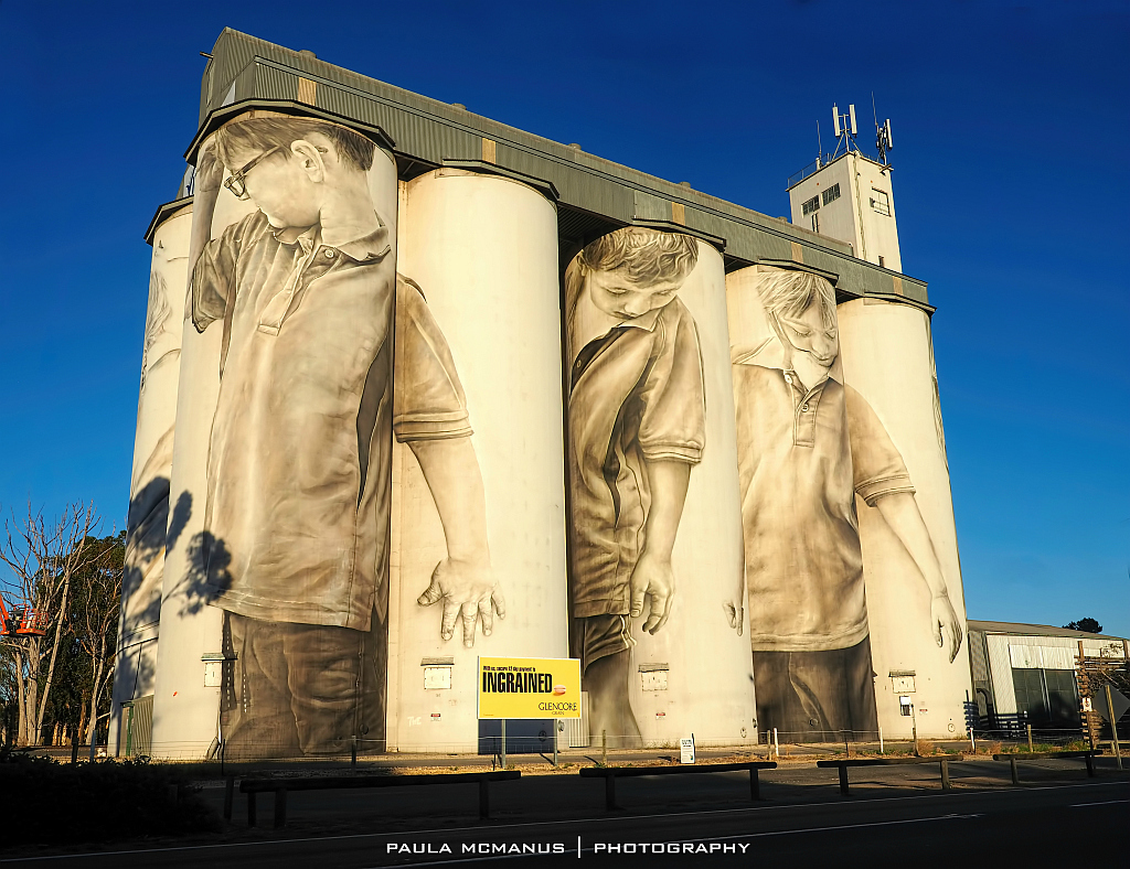 South australia 39 s first silo mural adelaide for Australian mural artists