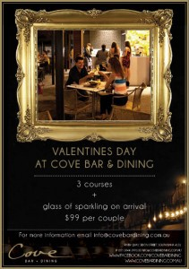 cove bar and dining, valentines day