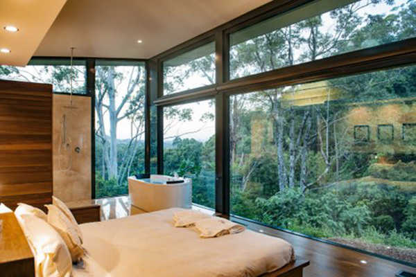 Crystal Creek Rainforest Retreat, rainforest cottage with spa and fireplace, best romantic accomodation near brisbane, room with a rainforest view, living in rainforest, Brisbane luxury getaways for couples,