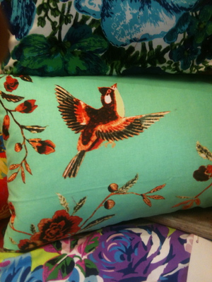 Cushions in bold prints