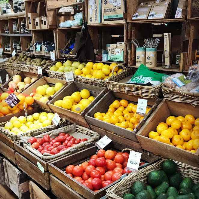 Organic produce at As Nature Intended