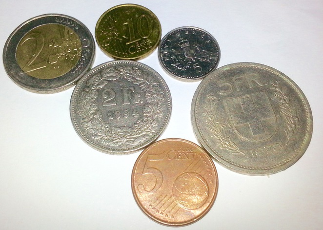 Euro, Franc, Foreign Coins, UNICEF coins for kids, donate coins, commonwealth bank,