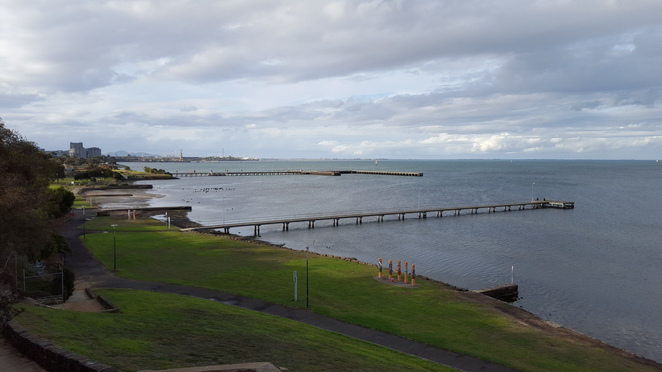Aerial View of Corio Bay above Rippleside Park