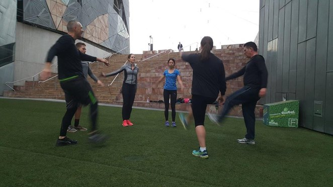 fitness classes at fed square