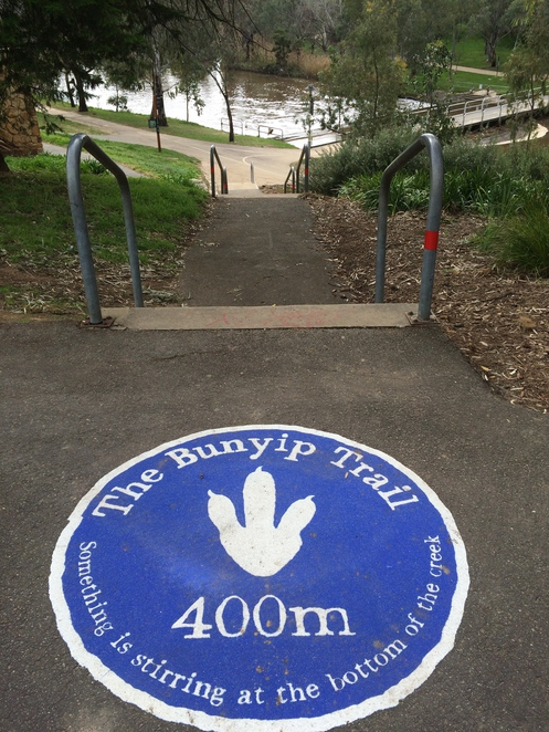 Follow the signs to The Bunyip Trail