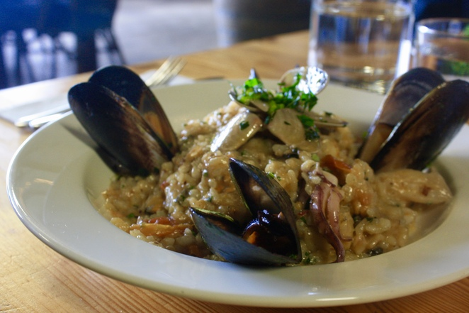 Risotto Mare which includes generous and luscious seafood