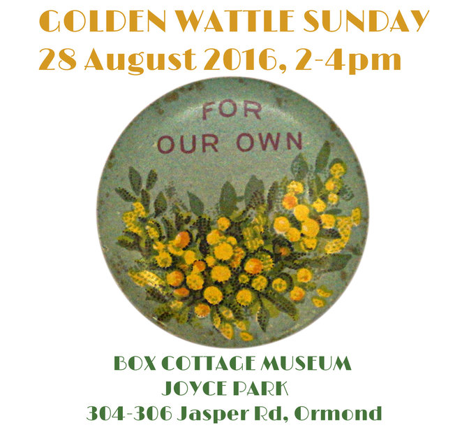 golden wattle springfest, box cottage museum, joyce park, ormond, welcome spring, wattle theme, artworks, ormond primary school, mp nick staikos, golden wattle sapling, mairi neil, kingston citizen of the year 2016, poems, limericks, museum, picnic, city of moorabbin historical society, city of glen eira, fun for children, community event