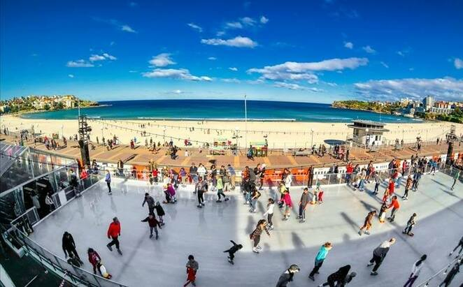 Ice Rink, Winter, Winter Magic, Beach, Bondi Beach