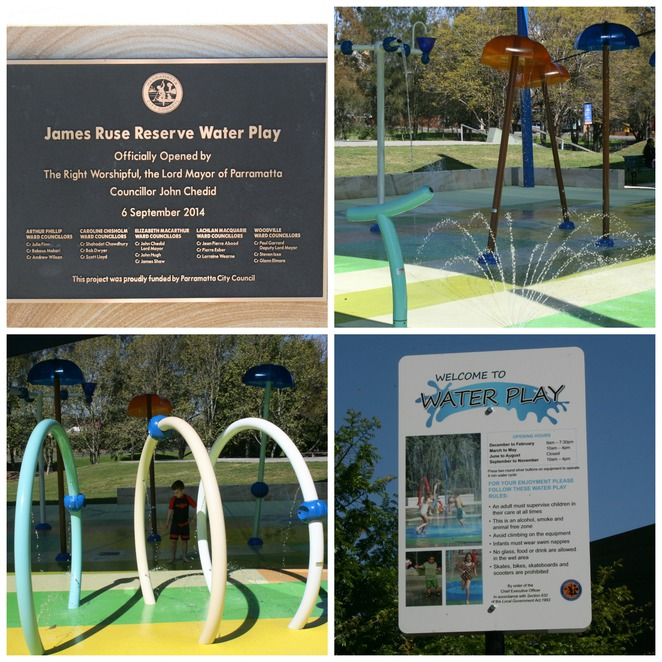 James Ruse Reserve Water Playground Parramatta