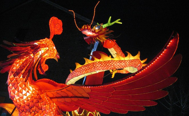 Chinese New Year lanterns in Hangzhou