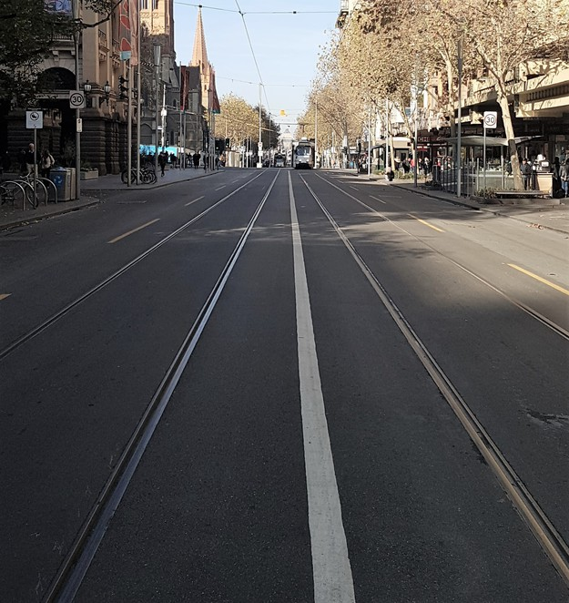 Melbourne, Swanston St, walking tour