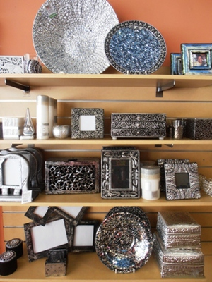 Beautiful handcrafted silver-ware at the Perth Oxfam shop.