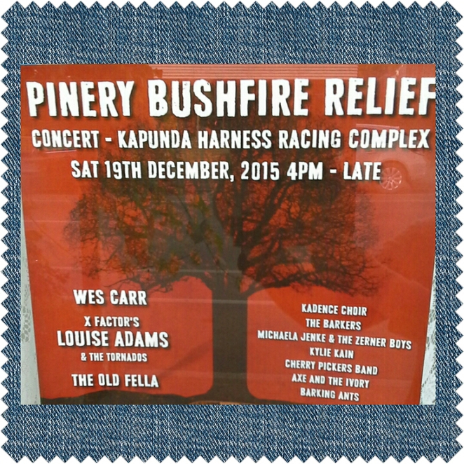 pinery bush fire relief concert 2015