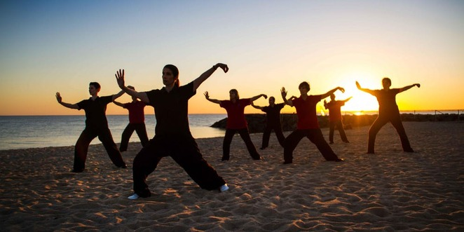 qi,gong,stephen,morgante,sunset,beach,people,exercise,calm