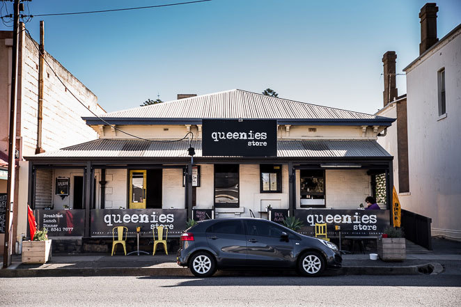 Queenies is a little cafe along Jetty Rd, Largs Bay on the beach.