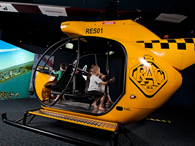 rescue, exhibition, scienceworks, helicopter