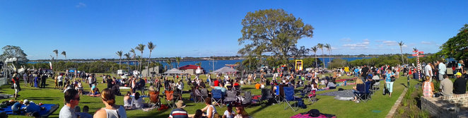 The Sandstone Point Hotel's grounds are great for festivals
