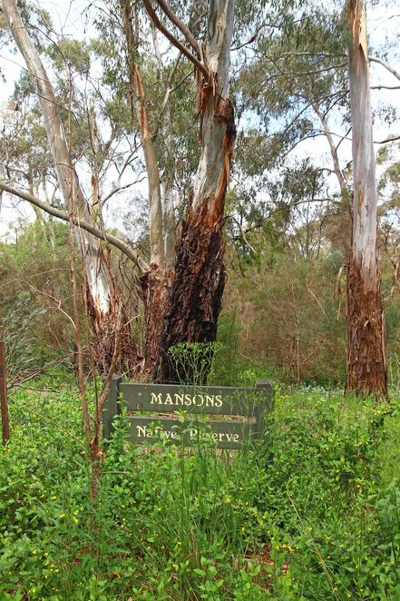 sign in the bush