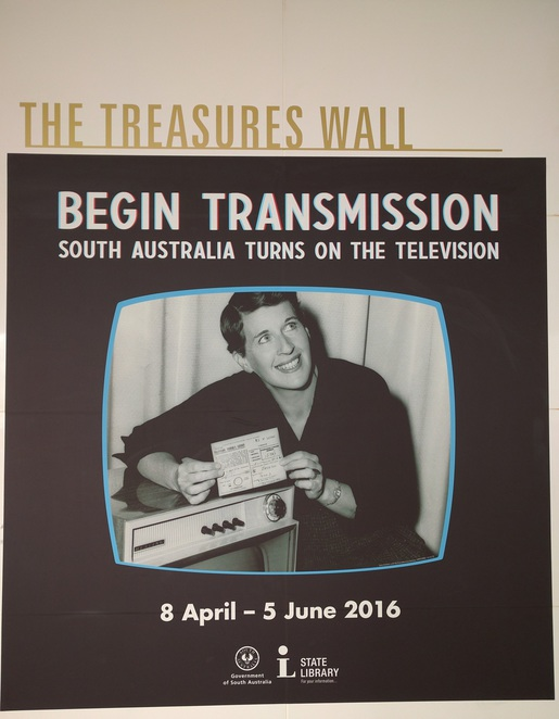 South Australia Television History, State Library Exhibition, Treasurers Wall