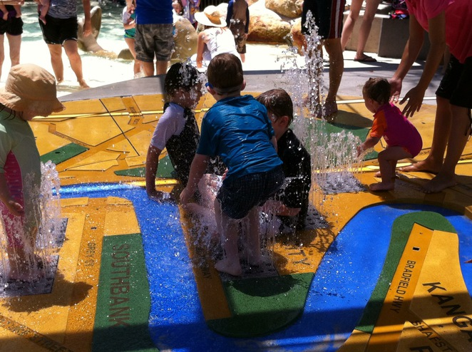 Southbank water play